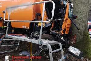 Verkehrsunfall mit LKW – Personen eingeklemmt - B191 Oldenstadt-Pieperhöfen - 04.03.2019