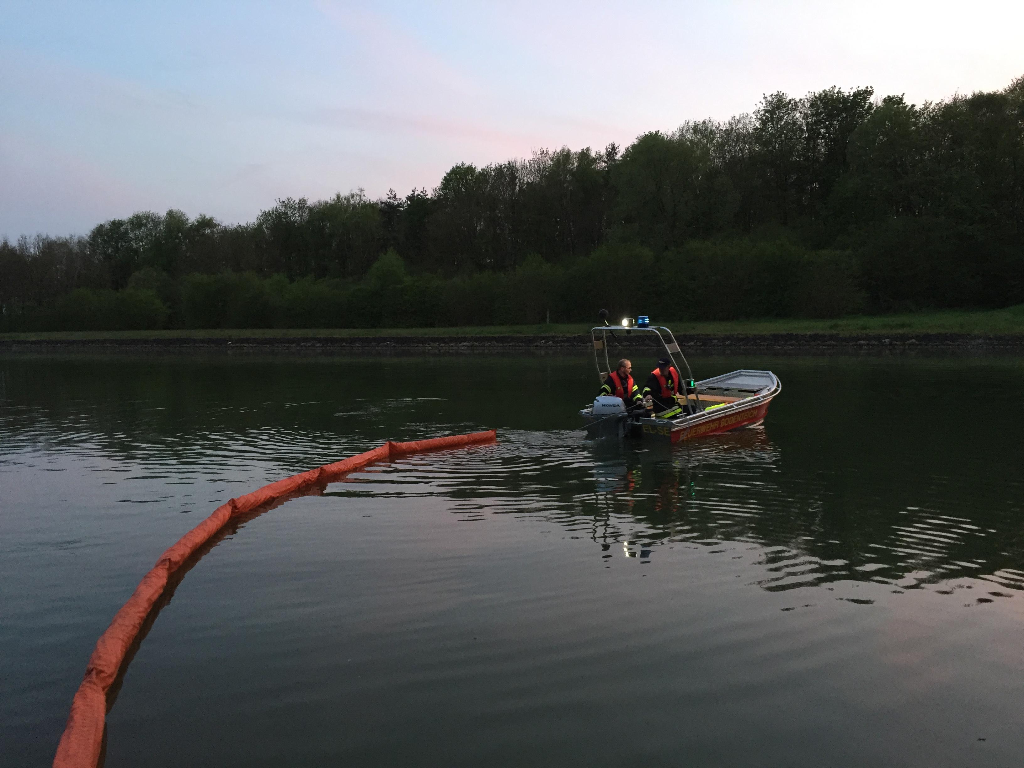 110. Hilfeleistung - Anforderung Ölsperre - Tankschiffhavarie