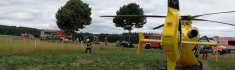 113. Verkehrsunfall - Person eingeklemmt