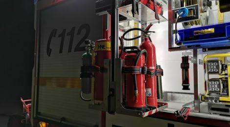 036. B2 - Polizei vermutet Wohnungsbrand